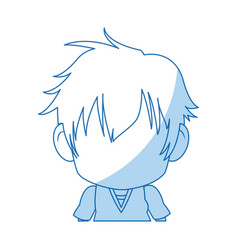 Face cute anime tennager facial expression vector