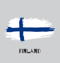 finland watercolor national country flag icon vector image
