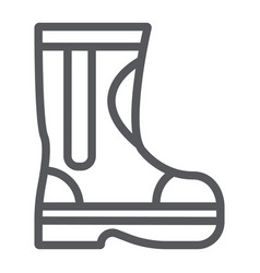 fire rubber boots line icon fireman and clothes vector image