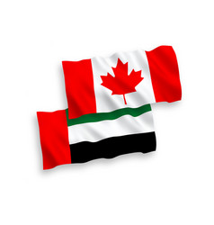 Flags canada and united arab emirates vector