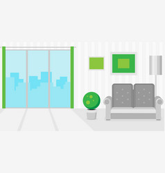 flat interior concept for design vector image