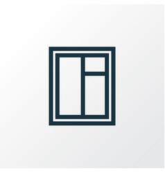 Glass frame outline symbol premium quality vector