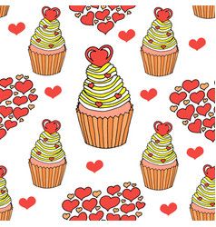 Graphic various sweets and desserts vector
