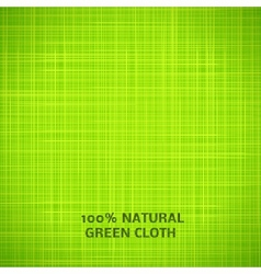 Green cloth texture background vector image