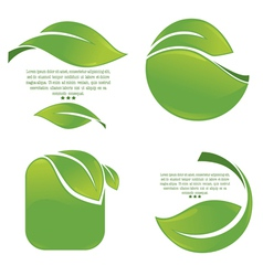 green leaves frames vector image