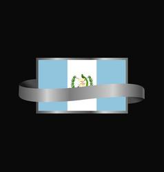 Guatemala flag ribbon banner design vector