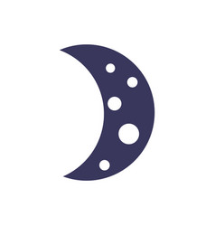 Half moon astrology line image vector