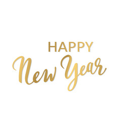 happy new tear lettering vector image