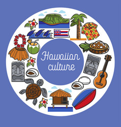 hawaiian culture travel to hawaii traveling and vector image