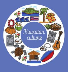 Hawaiian culture travel to hawaii traveling vector