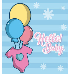hello baby cute card vector image