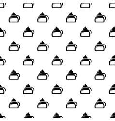honey tea pattern seamless vector image