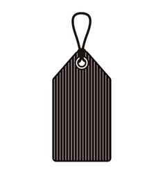 Isolated striped hang label design vector