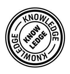 Knowledge rubber stamp vector