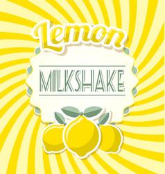 Lemon milkshake label vector