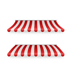marketplace striped roawnings shadows front vector image