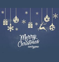merry christmas postcard design vector image