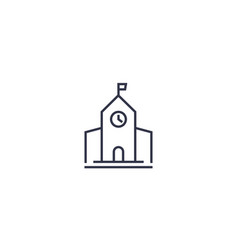 Municipal building city hall line icon vector