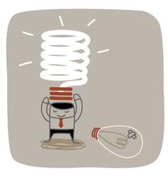 New Idea Bulb vector image