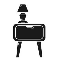 Nightstand icon simple style vector