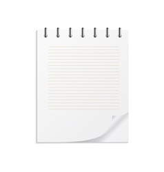 Notebook on a spring vector image