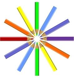 Pen set color 06 vector