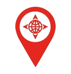 Planet location pin isolated icon design vector