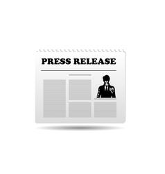 press release vector image