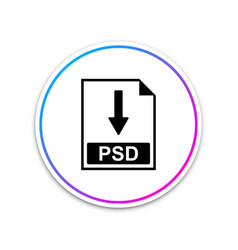 psd file document icon download psd button icon vector image