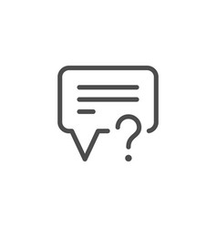 question line icon vector image