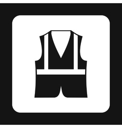 Reflective vest icon simple style vector