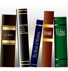 Religious books vector