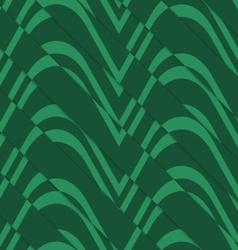 Retro 3D bulging green waves diagonally cut vector