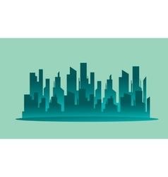 Silhouette beautiful city landscape vector