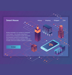 smart house first screen web vector image