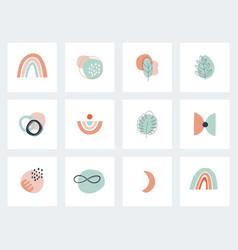 Social network highlights cover abstract boho vector