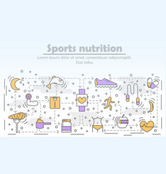 Sports nutrition advertising vector