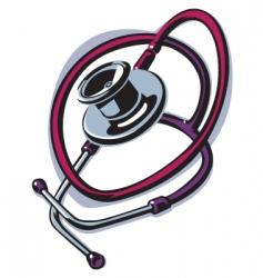 stethoscope heart vector image