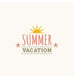 Summer Vacation label vector image