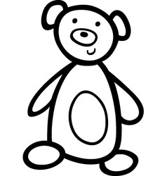 teddy bear for coloring book vector image