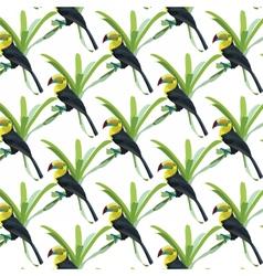 Toucan birds pattern vector image