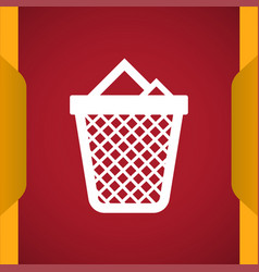 Trash icon for web and mobile vector