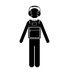 Traveler or passenger icon image vector