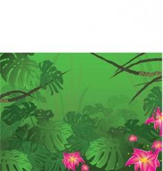Tropical jungle bush nature vector
