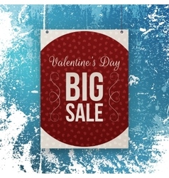 Valentines Day big Sale red Banner Template vector image