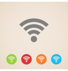 Wireless network icon vector