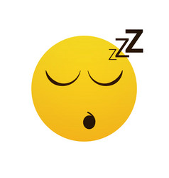 Yellow smiling cartoon face sleeping people vector