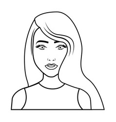 young woman pop art character vector image