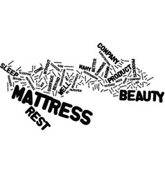 Beauty rest text background word cloud concept vector