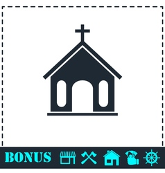 Church icon flat vector image